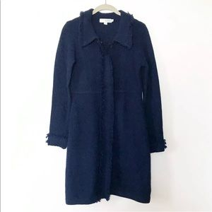 Boden Navy Wool Cardigan
